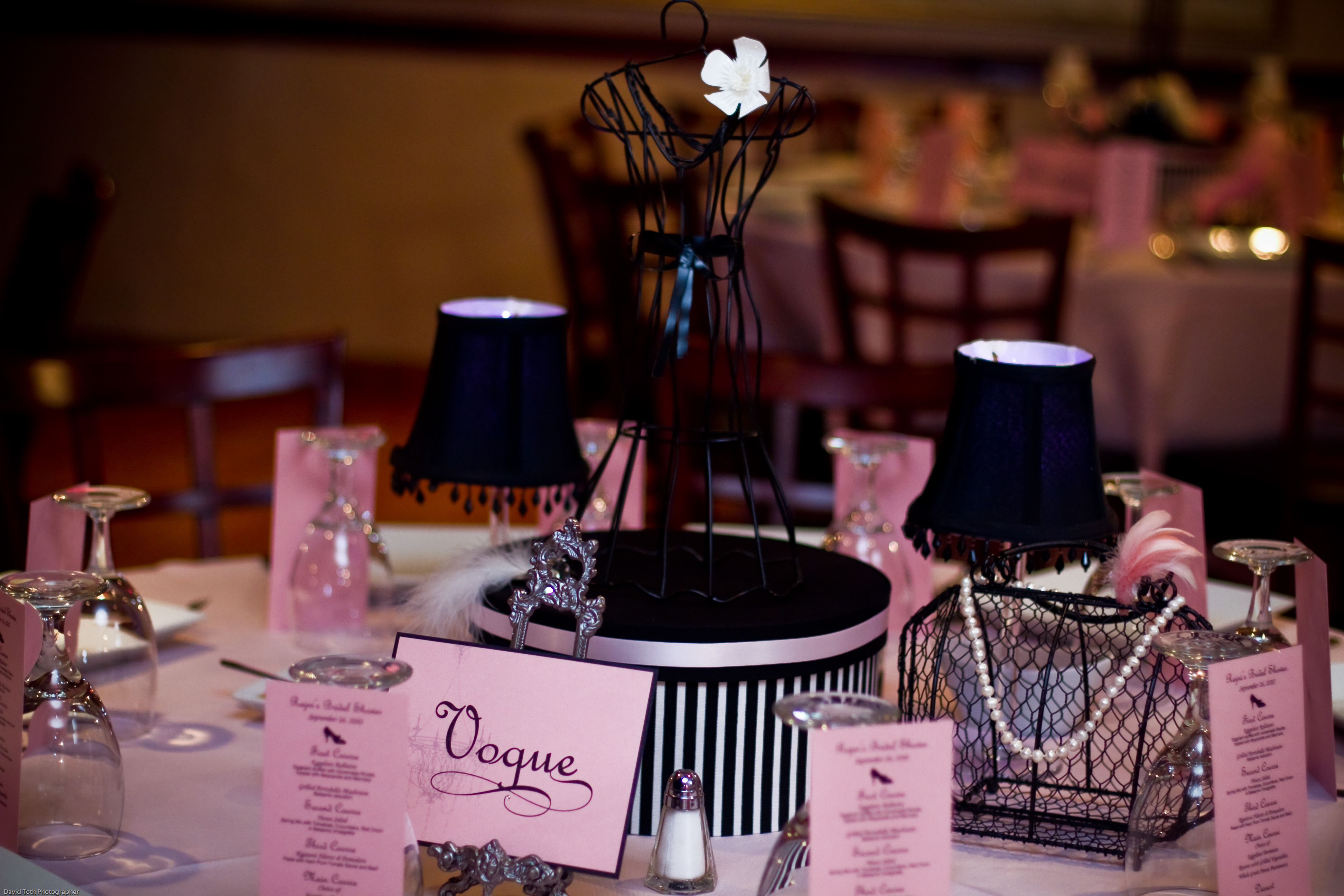 a pink black french couture bridal shower wednesday the 24th of november we